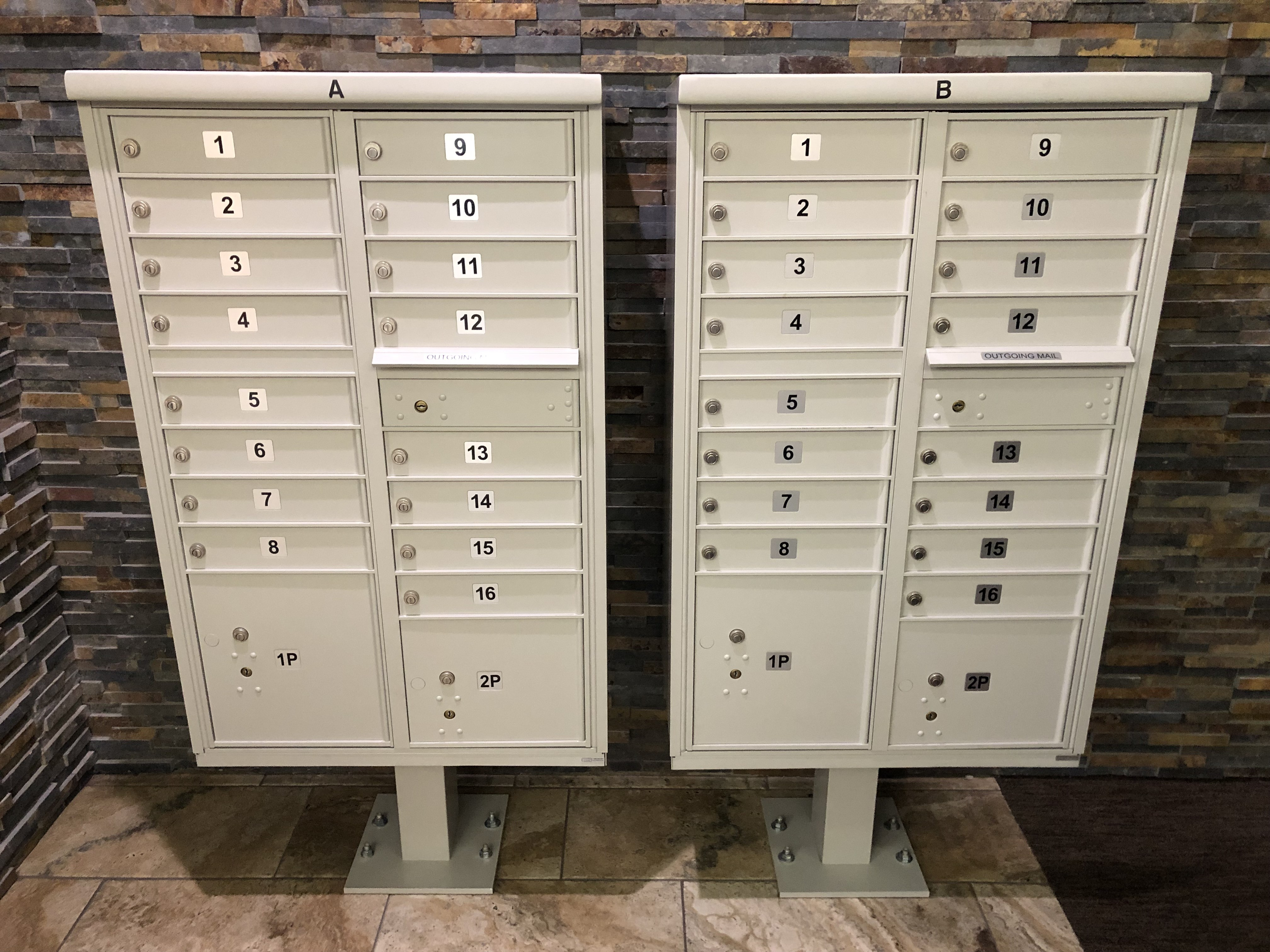 mailboxes left